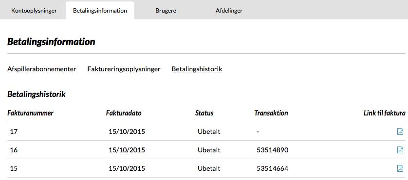 betalingsinformation