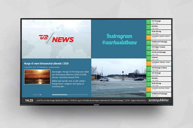 Få TV2 NEWS Vision på dine infoskærme