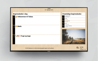 Indlejr Outlook Kalender på infoskærmen