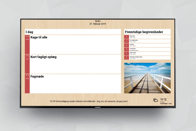 Indlejr iCloud Kalender på infoskærmen